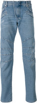 Pierre Balmain seaming details slim-fit jeans - men - Cotton/Spandex/Elastane - 29