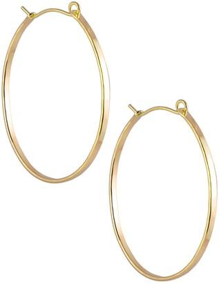 Nashelle Barrel Hoop Earrings