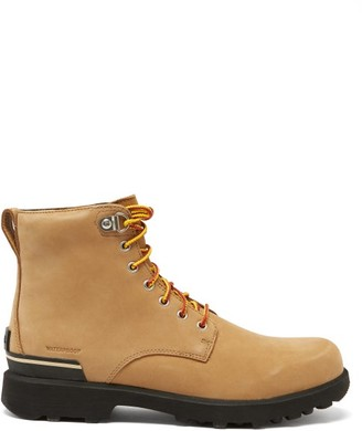 Sorel Caribou Six Waterproof Nubuck-leather Boots - Tan Multi