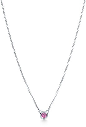 Tiffany & Co. Elsa Peretti Color by the Yard pendant in silver with a pink sapphire