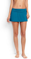 Lands' End Women's Mini SwimMini Skirt-Deep Sea Montego Stripe