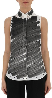 Moschino Brushstroke Sleeveless Shirt