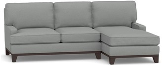 Pottery Barn Seabury Upholstered Sofa with Chaise Sectional