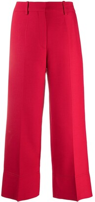 Valentino Cropped Virgin Wool Trousers