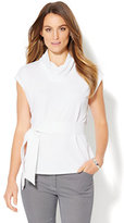 New York & Co. 7th Avenue Design Studio - Draped-Neck Belted Top