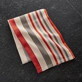 Crate & Barrel Striped Herringbone Dish Towel