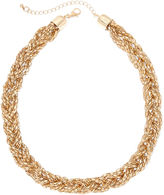 Boutique + Gold-Tone Braided Necklace