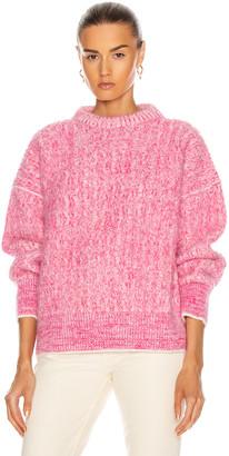 Acne Studios Kornelia Sweater in Pink & White | FWRD
