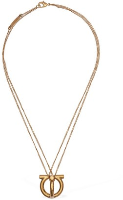 Salvatore Ferragamo Big 3d Logo Charm Short Necklace