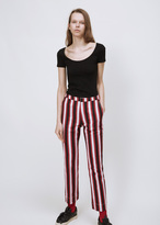 Ports 1961 white + red + black stripe trouser