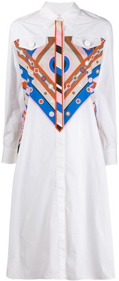 Emilio Pucci V-Vivara print shirt dress