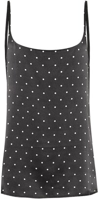 ASCENO Dotted silk camisole
