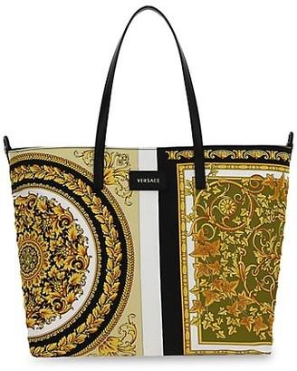Versace Barocco Mosaic Printed Mommy Tote Bag