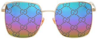 Gucci Gold and Multicolor GG0802S Sunglasses