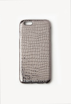 Missguided Silver Metallic Croc Effect iPhone 6 Case