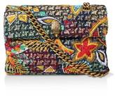 Kurt Geiger London Tweed Kensington X Bag Cross Body Bags