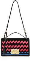 Salvatore Ferragamo Aileen Chevron Shoulder Bag
