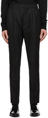 Balmain Black Wool Drop Trousers