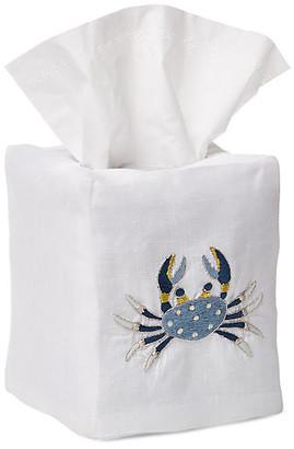 Hamburg House Crab Tissue Box Cover - Blue/White