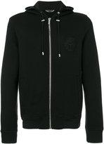 Versace Medusa embroidered hooded sweatshirt - men - Cotton/Acrylic/Polyamide/Wool - S