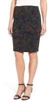 Halogen Side Zip Pencil Skirt (Petite)