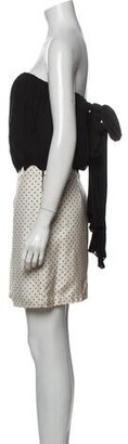 Alexander Wang Silk Mini Dress Black