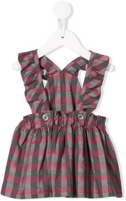 Aletta ruffled check dress