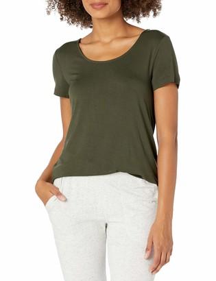 Mae Amazon Brand Women's Loungewear Scoop Neck Short Sleeve T-Shirt