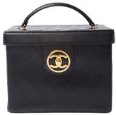 Chanel Vintage Black Quilted Calfskin Vanity