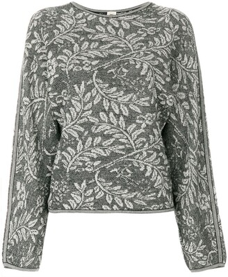 Emanuel Ungaro Pre-Owned Leaves Pattern Knitted Blouse