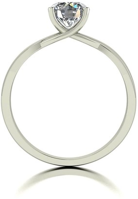 Moissanite 9ct White Gold 1ct Equivalent Solitaire Ring