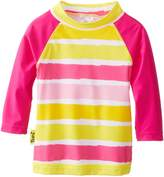 BaBy BanZ Baby-Girls Infant Long Sleeve UV Rash Top Sun Blossom Stripe