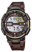 Calypso Men's Digital Watch with LCD Dial Digital Display and Brown Plastic Strap K5672/8