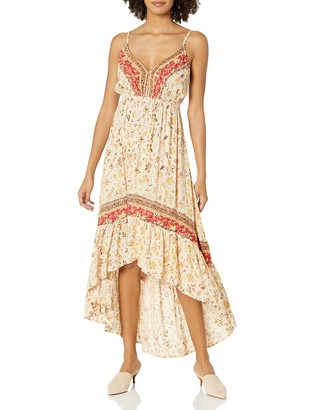 Angie Women's Floral Spaghetti Strap HIGH Low Dress
