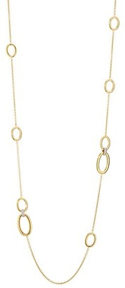 Alberto Milani Via Senato 18K Yellow Gold & Diamond Oval Chain Necklace
