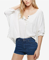 Free People Cutoff Blue Wash Cotton Denim Shorts