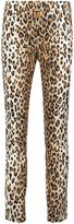 Carolina Herrera leopard print straight trousers - women - Cotton/Spandex/Elastane - 4