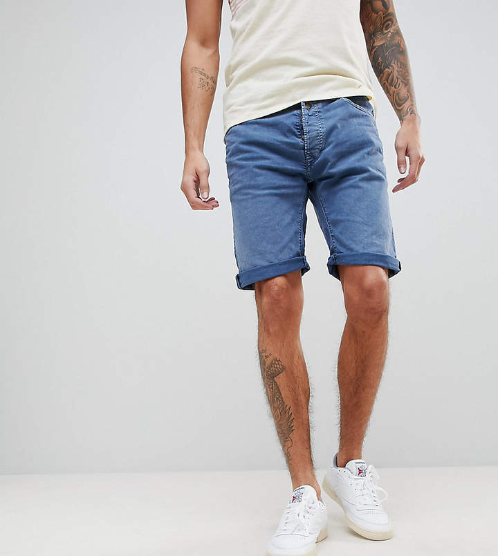 Replay 901 Denim Shorts In Stonewash Blue