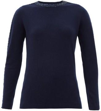 Bella Freud Sequinned Wool-blend Sweater - Navy