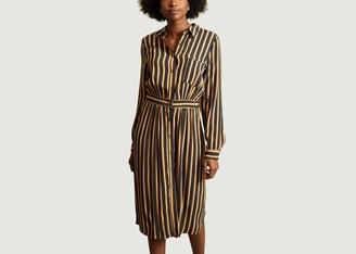 La Petite Francaise Reception Striped Shirt Dress - 36