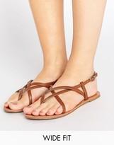 Asos FROLIC Wide Fit Flat Sandals