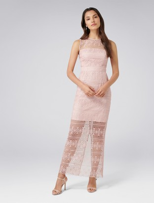 Forever New Marnie Lace Column Dress - Blush - 8
