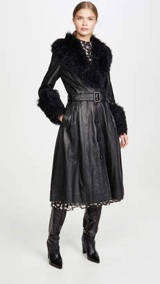 Saks Potts Foxy Shearling Belted Coat