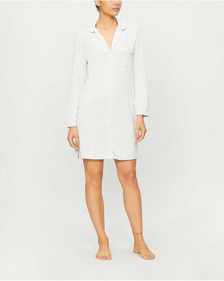 The White Company Classic button-up stretch-jersey nightshirt