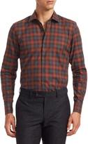 MODERN Long Sleeve Watercolor Plaid Shirt