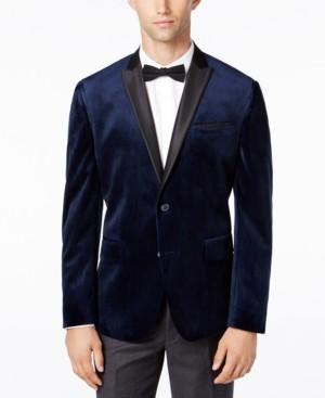 INC International Concepts Inc Men's Mason Slim-Fit Velvet Blazer, Created for Macy's