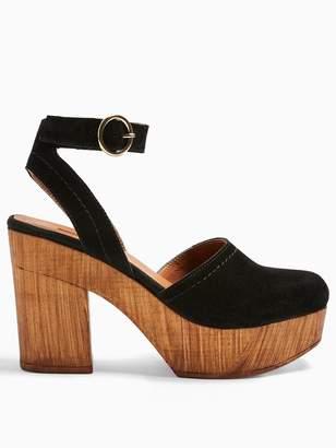 Topshop Gabby Ankle Strap Clogs - Black