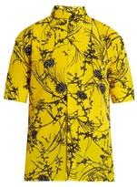 Haider Ackermann Baryum Short-sleeved Silk Shirt
