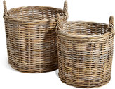 Marks and Spencer Kubu Rattan Set of 2 Round Baskets