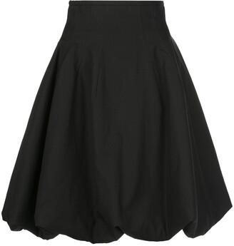 KHAITE Tanya wrinkled A-line skirt